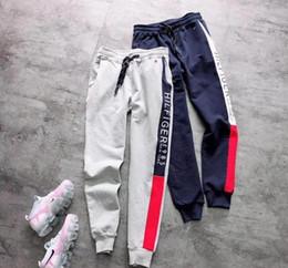 Pantalon pour hommes en Ligne-Top qualité 100% coton Pantalon Hommes 2019 Hip Hop Broderie Crocodile Casual Joggers Pantalons De Survêtement Pantalon Homme Streetwear Vêtements Homme M-XXL