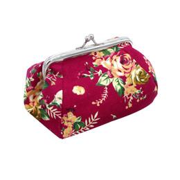 pochette carteira Promotion Portefeuille femme Retro Vintage Flower petit portefeuille Hasp Purse Lady Clutch Bag Dropship nouveau 2019 chaud VENDRE carteira feminina2.38 * 3