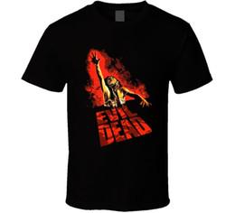 Camisa muerta online-The Evil Dead 80s Horror Classic Cult Poster Fan T Shirt Envío gratis Unisex Camiseta top
