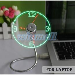 2019 carregador usb lâmpadas 2016 Ajustável Flexível Mesa de Escritório Gadget USB Mini Tempo Flexível LED Ventilador de Relógio com Luz CONDUZIDA K5076
