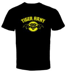 Группа тигров онлайн-Tiger Army Punk Rock Band 1 Новая Футболка Лето Прямой 100% Хлопок 2018 Мужская Мода С Коротким Рукавом Бесплатная доставка тройники
