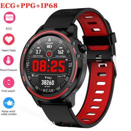 2019 apro reloj inteligente Reloj elegante L8 Hombres IP68 a prueba de agua Reloj Hombre SmartWatch Con ECG PPG de la presión arterial del ritmo cardíaco Fitness Deportivo reloj pulsera.