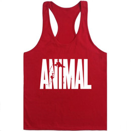 Deutschland Animal Stringer Bodybuilding-Tanktop Solide Gym Singlet Muscle Mens Racer-back-Weste T-Shirt Bodybuilding-Stringer-Trägershirt für Männer Versorgung