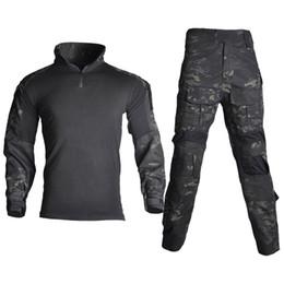 Chemise de combat BDU manches longues pour hommes avec coudi/ères Typhon Kryptek pour tactique militaire Arm/ée Airsoft Paintball