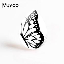 hand schmetterling kunst Rabatt 2019 neue bunte Schmetterling Kunst Cabochon Schmetterlingsflügel Tear Drop Cabochons Hand Handwerk Schmuck Geschenke Frauen