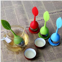 ferramentas para fazer acessórios Desconto Utensílios de cozinha Silicone Tea Infuser Leaves Forma Silicon Teacup com Produto Comestível Fazer Filtro de Saco De Chá de Aço Inoxidável Strainers Ferramentas