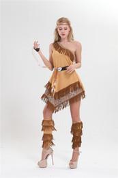 2019 costumi indiani americani Costumi di Halloween Nappa sexy europea e americana Costumi principessa indiana giocano costumi costumi indiani americani economici