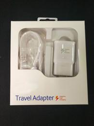 kit rápido Desconto 2 em 1 kits Adaptativos Carregador Rápido 9 V Carregamento Rápido Original 1.5 M Cabo Micro USB EUA Plug UE Adaptador de Viagem Rápida Parede com caixa de varejo