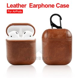 black box wine wholesale Coupons - For Airpods Cases Protective Cover PU Leather Hook Clasp Keychain Anti Lost Fashion headphoens Apple airpod Earphone Case Protector