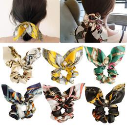 Модные эластичные резинки для волос в этническом стиле с цветочным принтом атласная лента для волос для женщин жемчуг резинки резинки для волос аксессуары 36 цветов от