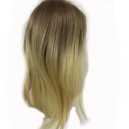 Full Shine Extensions de Cheveux Humains Ombre Remy Topper Couleur # 10 Doré Brun Atténuation à # 613 Blond Humain Topper ? partir de fabricateur
