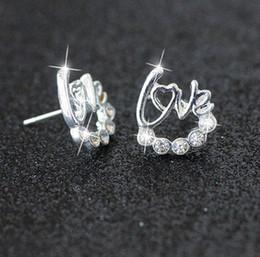 2019 joyería nupcial estrella luna circular nuevo trébol anti alergia estrella luna de plata diamante perforado pendientes tipo de envío barato desde fabricantes