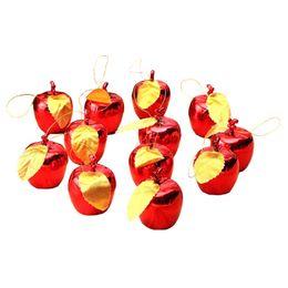 Mela di nuovo anno online-Alta qualità 12pcs Natale Decorazione Mele Albero Hanging Ornamento Home Capodanno Party Eventi Ciondolo di frutta VE