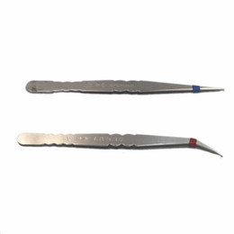 Argentina Precio de fábrica de venta directa de pinzas de acero inoxidable, herramienta de codo puntiagudo, clip de nido de pájaro que injerta pinzas de pestañas Suministro