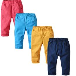 Pantaloni svegli di colore della primavera dei pantaloni di colore della caramella dei ragazzi svegli Pantaloni di colore arancio e blu di colore rosa di colore rosa occidentale da pantaloni di colore arancione fornitori