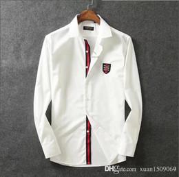 2019 kastenfaltenkleid Reine Baumwolle mercerisierter Baumwolle Revershemd der Männer lange Hülse dünne koreanische Art und Weise schöne Männer Hemd business casual
