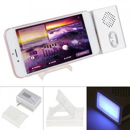 alto-falantes x1 Desconto X1 Portátil 3 W Smartphone Subwoofer Speaker com 3.5mm Jack Estéreo e Fantasma 5 cores Lâmpada de Respiração para Smartphone PC Portátil
