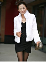 pellicce di pelliccia di coniglio Sconti 2019 New Genuine Rabbit Fur Coat Women Full Pelt Rabbit Fur Jacket Inverno Gilet di pelliccia Su misura Grande colletto alla coreana Wfp267 Y190828
