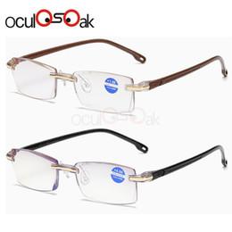 2019 dioptria da lente Ultraleve sem aro óculos de leitura mulheres homens limpar lente anti-blu-ray computador óculos presbiopia eyewear dioptria dioptria da lente barato