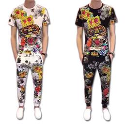 Argentina 2019 Nuevas camisetas + Conjuntos de pantalón Ropa deportiva Tigre Impresión Moda Diseñador de hombre Chándales Correr Correr Casual Dos piezas más tamaño S-5XL cheap tiger piece Suministro