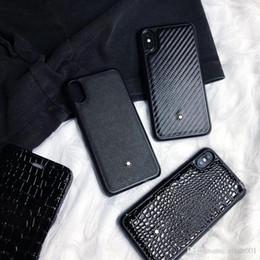 ótimos telefones Desconto Moda grandes homens marca de couro preto boa qualidade phone case para iphone 6 6 s 7 8 8 plus xr x tampa traseira shell para iphone x xr 7 plus case