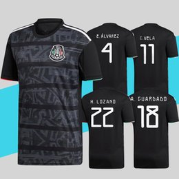 acde816cf09 jerseys mexico teams Coupons - Mexico 2019 Gold Cup Soccer Jersey Black  VELA CHICHARITO LOZANO MARQUEZ