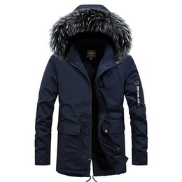 abrigo de piel azul abrigo hombres Rebajas Abajo chaqueta de los hombres de gran tamaño Negro Chaquetas Los hombres cubren la piel de imitación de la capilla Abrigo calidez tamaño 4XL azul con cremallera Outwear