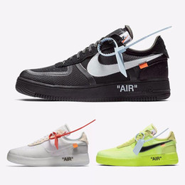 nike air force per off white nere