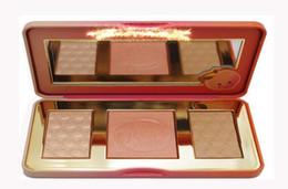 composição natural do blush Desconto Em estoque New Arrivals hot new Doce Peach Glow infundido Bronzers Highlighters paleta de blush de maquiagem
