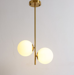 2019 nettes schlafzimmer pendelleuchten Globus Pendelleuchte Metall vergoldet Farbe G9 Glaskugel Schatten Led Hanglamp Leuchte Residence Home Led Pendelleuchten