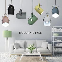 Luce pendente registrabile online-Nordic Minimalismo droplight angolo regolabile E27 luci piccolo ciondolo, lampada di illuminazione arredamento e luce Bar Vetrina punto