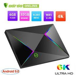 Argentina 1 PCS Q Plus Allwinner H6 Smart Android 9.0 TV Box 4GB 32GB 4K H.265 USB3.0 IPTV M9S Z8 PK X96 MAX Set de decodificador S905W S912 RK3328 Suministro