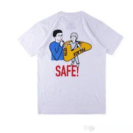 espacio gato t shirts Rebajas Palacios SPRING19 SAFE T de la historieta de seguridad carácter de natación anillo de algodón cuello redondo manga corta camiseta