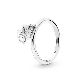 6275e66c3 2019 Spring Authentic 925 Sterling Silver Dangling Clover Original Europe  Ring For Women Bead Charm Birthday Gift DIY Jewelry