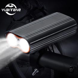 costruire la bici Sconti 20000 lumen luce bicicletta incorporata 6000mAh bici luce LED faro batteria ricaricabile USB + 2 manubrio MTB mount bicicletta