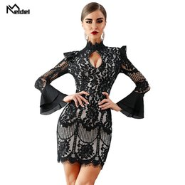 short dinner evening dresses Coupons - 2019 New Spring Summer Zipper Mermaid Evening Dress Lace Robe De Soiree longue Formal Dress for dinner party