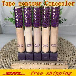 2019 качественная косметика Высочайшее качество Shape Tape Contour Concealer 5 цветов Fair Light Светлый средний Светлый песок Средний 10мл жидкая тональная основа консилер карандаш косметический дешево качественная косметика