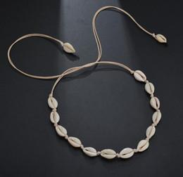 weiße perlenhalskette entwirft gold Rabatt Seil-Ketten-natürliche Shell-Halsketten-Kragen-Halskette Boho Seashell-Halskette für Frauen-Sommer-Strand-Partei-Schmuck DHL GB1292