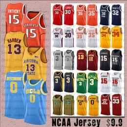 jersey de ucla Rebajas NCCA Russell 0 Westbrook UCLA Bruins Jersey James Kobe Iverson 23 LeBron 24 Bryant 13 Harden 30 Curry Stephen College Jerseys de baloncesto