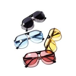 78371f8c47 Wholesale cartier glasses online - Women Big Frame Sunglasses Retro  Reflective Mirror Sunglasses Transparent Metal Clear
