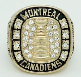 2020 anillos de la serie mundial Multa real al por mayor envío gratuito 1945 1946 Cupé Copa Stanley Montreal Canadiens World Series Men anillos anillos de la serie mundial baratos