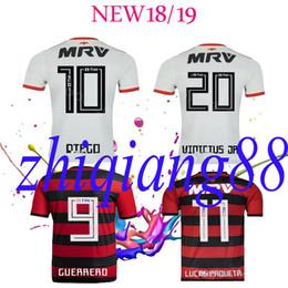 d31f9890375 New font CR Flamengo 2018 2019 soccer jersey 18 19 Flamenco away white  Camisa de futebol GUERRERO DIEGO woman man football shirt maillot