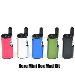 Kit mod. Mini Box originale Nero 100% Kit preriscaldatore VV Batteria 650mAh Preheat Variable Volt da