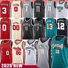 Новый баскетбол джерси онлайн-7 Кевин Джа 12 Морант Дюрант баскетбол NCAA Джерси Кирие ДЖЕЙРЕН 11 13 Джексон-младший. Ирвинг Дамиан 0 СиДжей 3 Лиллард Кармело 00 Энтони Макколл новый