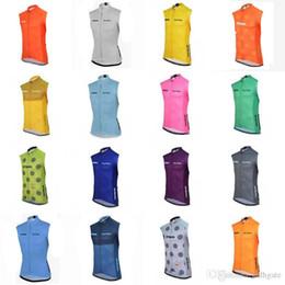 2019 ropa seca al aire Venta al por mayor-strava Equipo Pro transpirable Ciclismo sin mangas de verano de secado rápido Ropa de bicicleta Ciclismo Tops Ropa de respiración de aire E52501 ropa seca al aire baratos