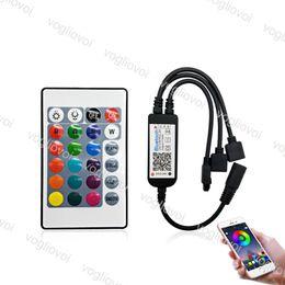 Argentina WiFi Bluetooth Mini RGB Controller 72W 144W 24key Smart Light Strip Controller Dimmer para 5050 3528 RGB LED Strip Tape Work 2 DHL supplier led strip 144w Suministro