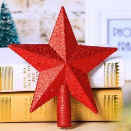 accessoires de maison rouge Promotion Rouge / Jaune Sapin De Noël Haut Décorations Étoiles Pour La Maison Maison Décor De Table Accessoires Ornement De Noël Fournitures Décoratives
