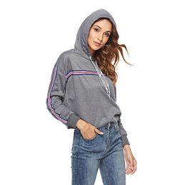 Echt Schuss, Explosion, 2018 Herbst und Winter neue Frauen europäischen und amerikanischen Kapuzenpullover Jacke Ebay Damenhemd von Fabrikanten