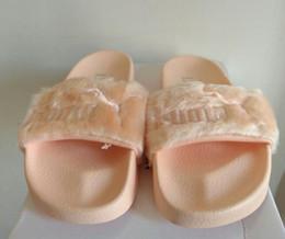 Leadcat Fenty Rihanna Zapatos Mujer Fenty Rihanna Bandana Slide Zapatillas Mujer Fenty Bow Slide Sandalias interiores Mujer slide desde fabricantes