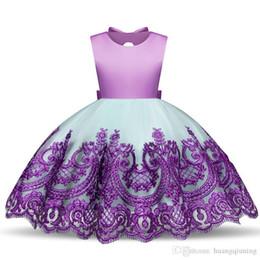 I vestiti dalla ragazza del fiore chiffoni infantili online-Baby Girl Infant Party Dress Little Girl Frocks Toddler Girls Dresses Tutu per bambini Costume per bambini Flower Eventi formali Wea